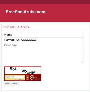 Free SMS Aruba apk screenshot