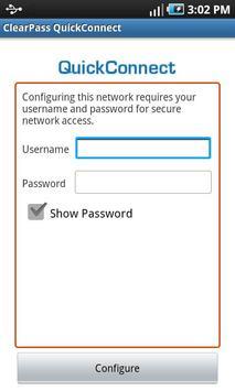 ClearPass QuickConnect apk screenshot