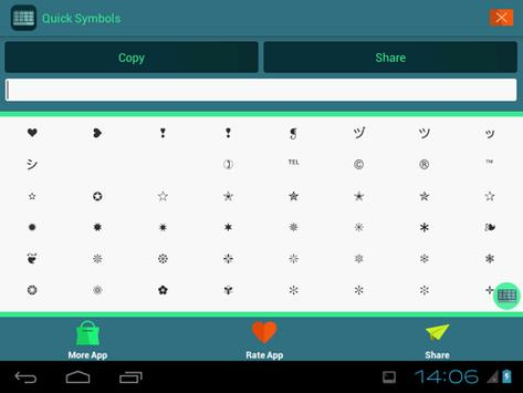 ASCII Text Symbols apk screenshot