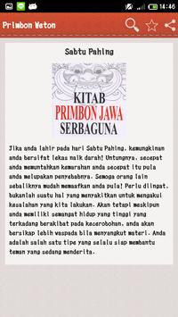 Primbon Weton apk screenshot
