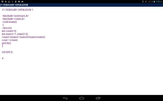 C++ Program Tutorail apk screenshot