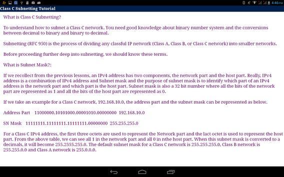 IPV4 Subnetting apk screenshot