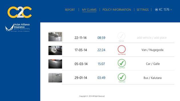 Click2Claim apk screenshot
