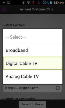 Asianet Customer Service apk screenshot