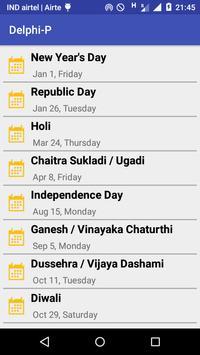 Delphi India Holidays 2016 apk screenshot