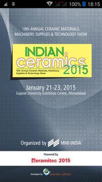 Indian Ceramics 2015 poster