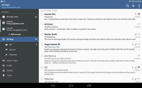 ASUS Email apk screenshot