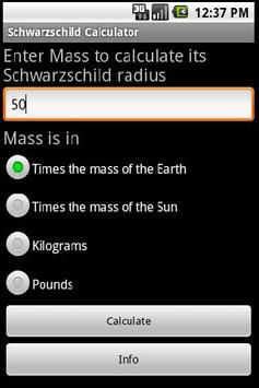 Schwarzschild Calculator poster