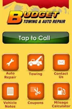Budget Towing & Auto Repair poster