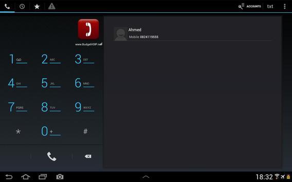 BudgetVOIP Phone v4 apk screenshot
