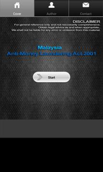 Anti-Money Laundering Act 2001 poster