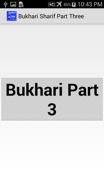 Bukhari Sharif Part 3 Urdu poster
