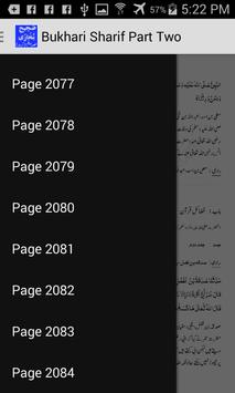 Bukhari Sharif Part Two Urdu apk screenshot