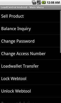 LoadCentral Android apk screenshot