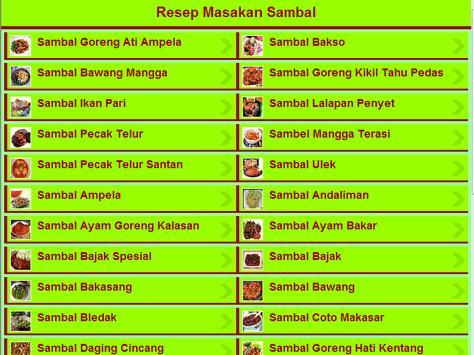 Resep Masakan Sambal apk screenshot