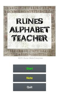 Runes Alphabet Teacher apk screenshot