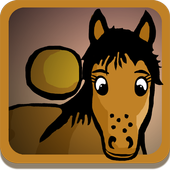 Harold the horse by the hedge icon