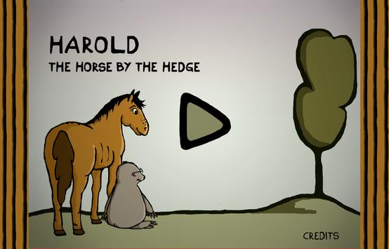 Harold the horse by the hedge apk screenshot