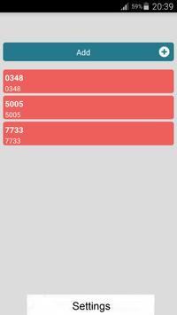 Call Blocker/Blacklister apk screenshot