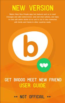 Get badoo meet new friend tips poster