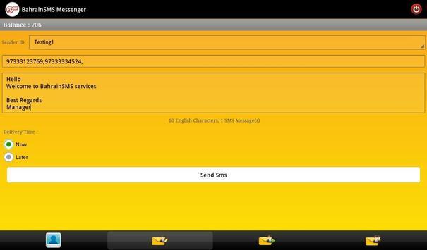 BahrainSMS Messenger apk screenshot