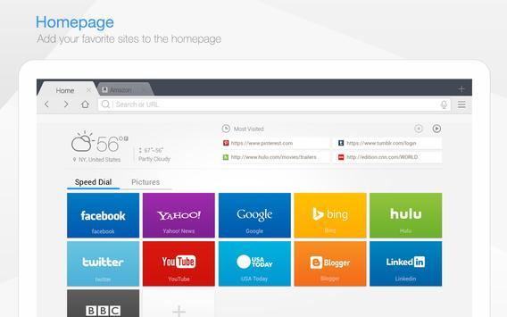 DU Browser for Tablet poster