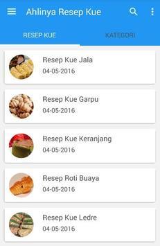 Ahlinya Resep Kue apk screenshot