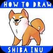 Dog Shiba Inu How to draw icon