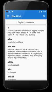 Indonesian Dictionary apk screenshot