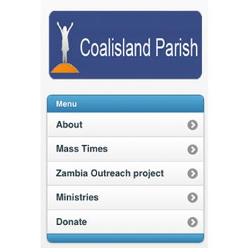 Coalisland Parish App poster
