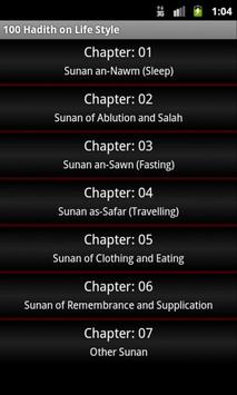 100 Hadith on Life Style poster