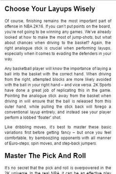 Guide for NBA 2k16 apk screenshot