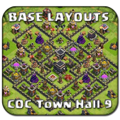 Base Maps COC TH 9 icon