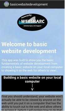 Basic Website Development apk screenshot