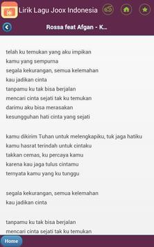 Lirik Lagu Joox Indonesia apk screenshot
