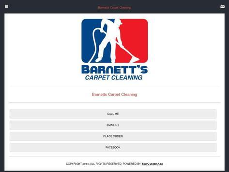 Barnett's Carpet Cleaning poster