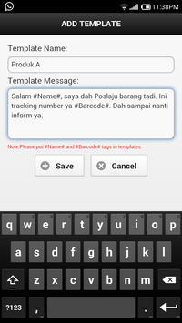 Barcode SMS apk screenshot