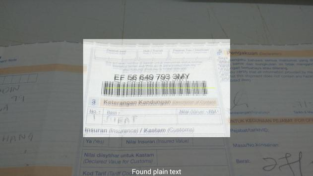 Barcode SMS poster