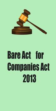 Bare Act for Companies Act2013 poster