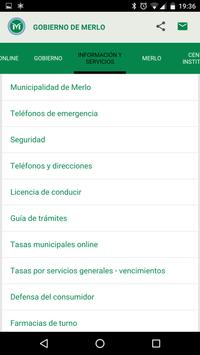 Municipalidad de Merlo apk screenshot