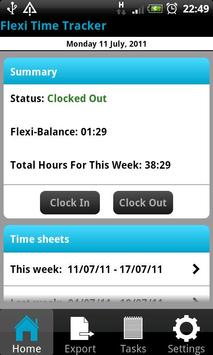 Flexi Time Tracker poster