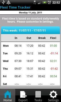 Flexi Time Tracker apk screenshot