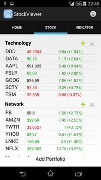 US Stock Viewer apk screenshot