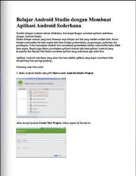 Belajar Android Studio apk screenshot