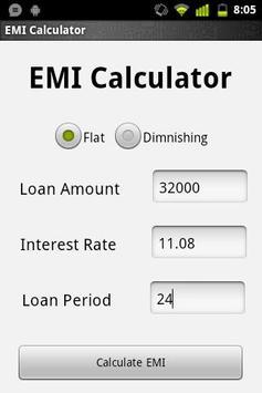 EMI Calculator apk screenshot