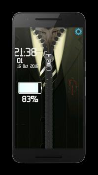 Zipper Dark BatMen lock screen apk screenshot
