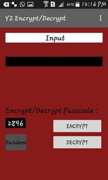 YZ Encryption/Decryption poster