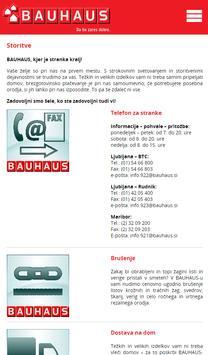 BAUHAUS Slovenija apk screenshot