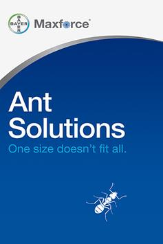 Bayer Maxforce Ant Solutions poster