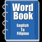Word book English to Filipino icon